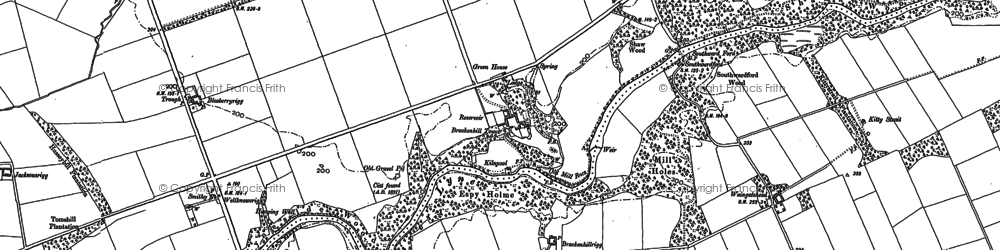 Old map of Whitecloserigg in 1899