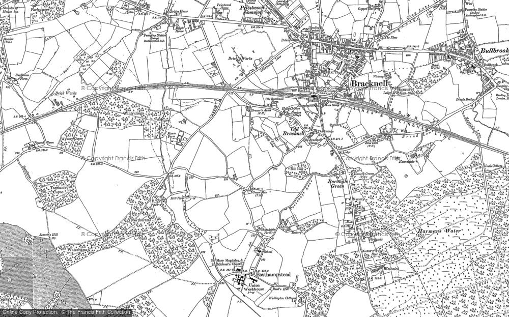 Map of Bracknell, 1898 - 1909