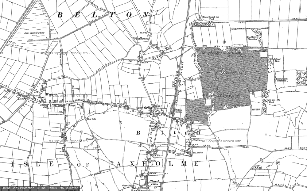 Old Map of Historic Map covering Woodhouse in 1905