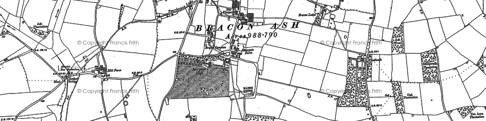 Old map of Mergate Hall in 1881