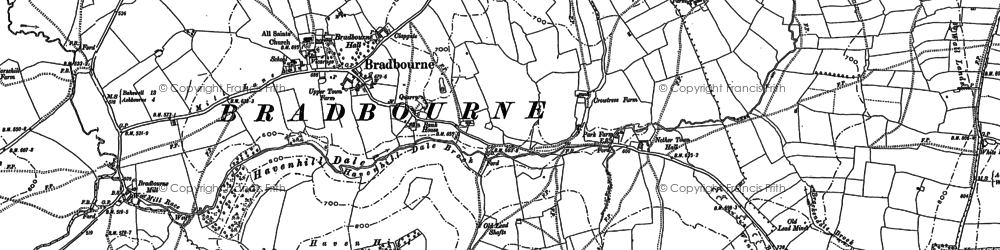 Old map of Wigber Low in 1879