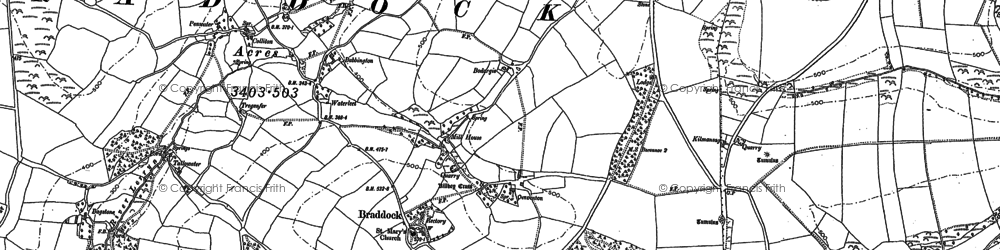 Old map of Babbington in 1881