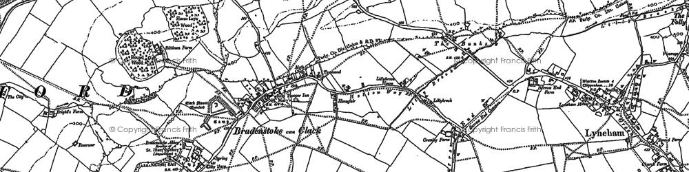 Old map of Bradenstoke in 1899