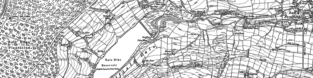 Old map of Bar Dyke in 1901