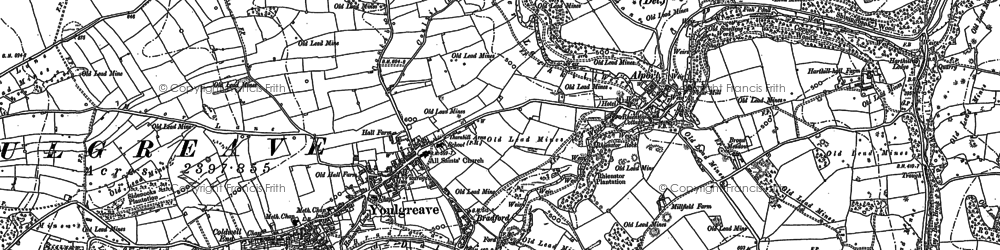 Old map of Youlgreave in 1878