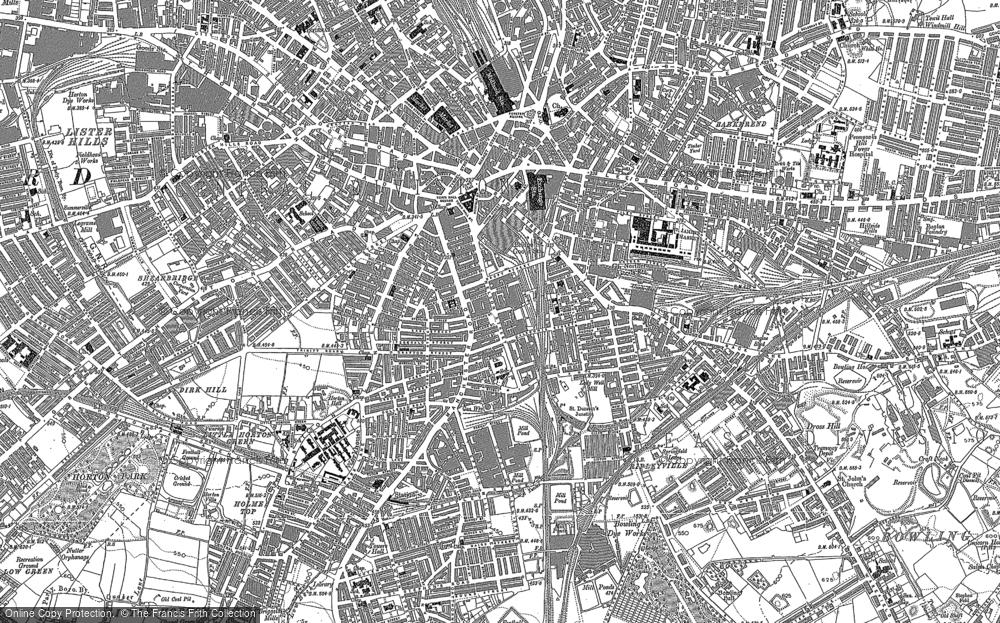 Map of Bradford, 1890 - 1891