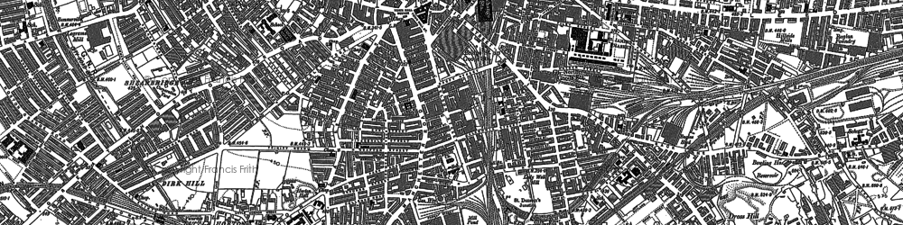 Old map of Bradford in 1890