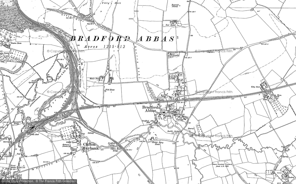 Old Maps of Bradford Abbas Francis Frith