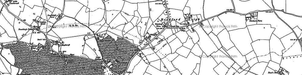 Old map of Forewoods Common in 1922