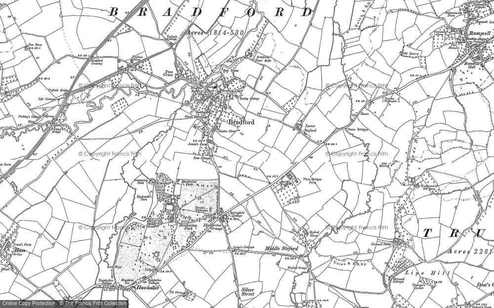 Old Maps of BradfordonTone Francis Frith