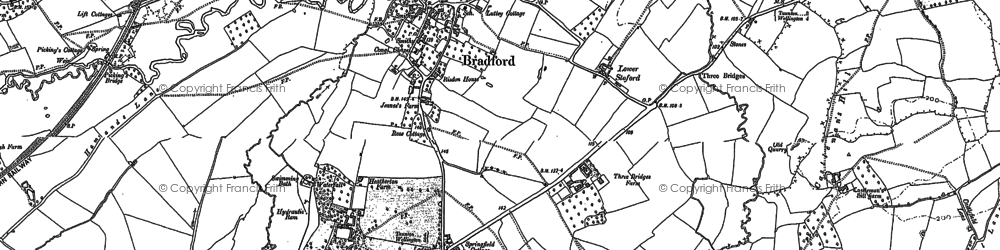 Old map of Tone Green in 1887