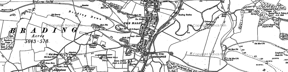 Old map of Yarbridge in 1907