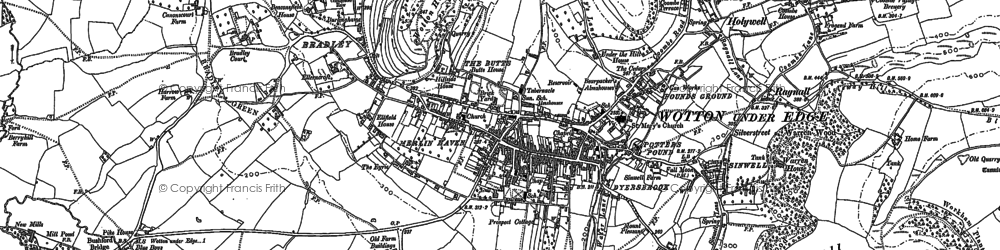 Old map of Wotton Hill in 1881