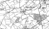 Old Map of Bradley, 1894