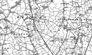 Old Map of Bradley Green, 1897 - 1909