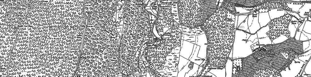 Old map of Ayleford in 1879