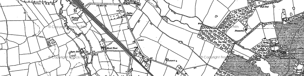 Old map of Wootton Green in 1886