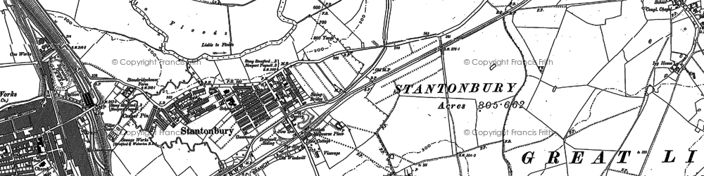Old map of Bradville in 1898