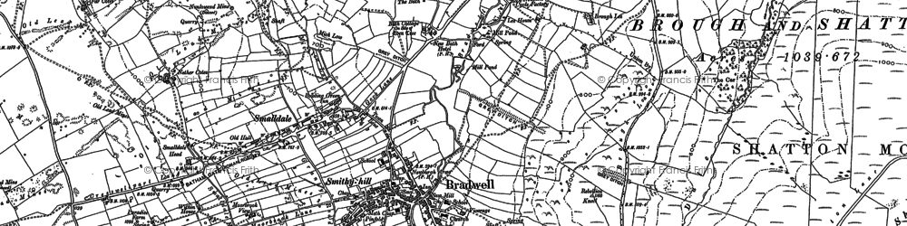 Old map of Bradwell in 1897