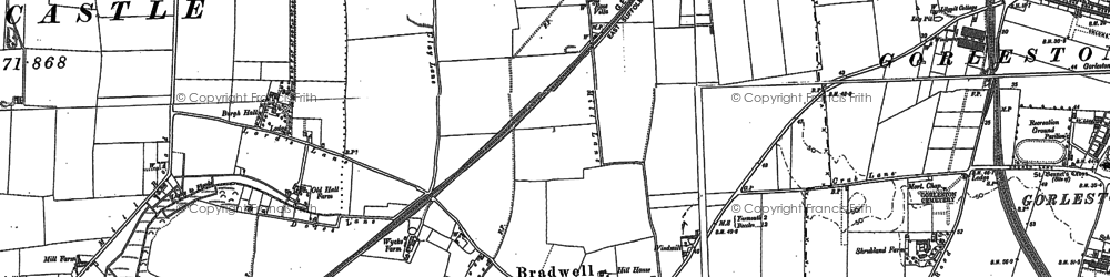 Old map of Bradwell in 1904