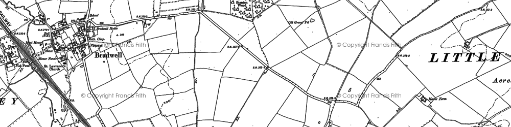 Old map of Bradwell Common in 1898