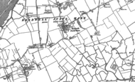 Old Map of Bradwell on Sea, 1886 - 1896