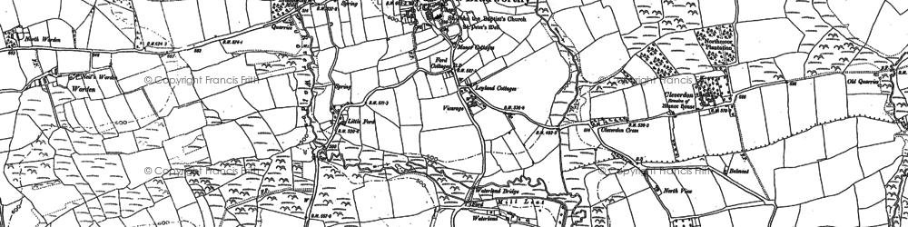 Old map of Worden in 1884