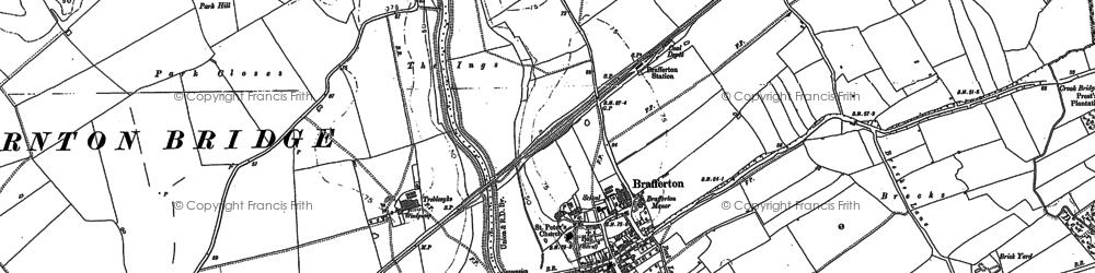 Old map of Brafferton in 1890