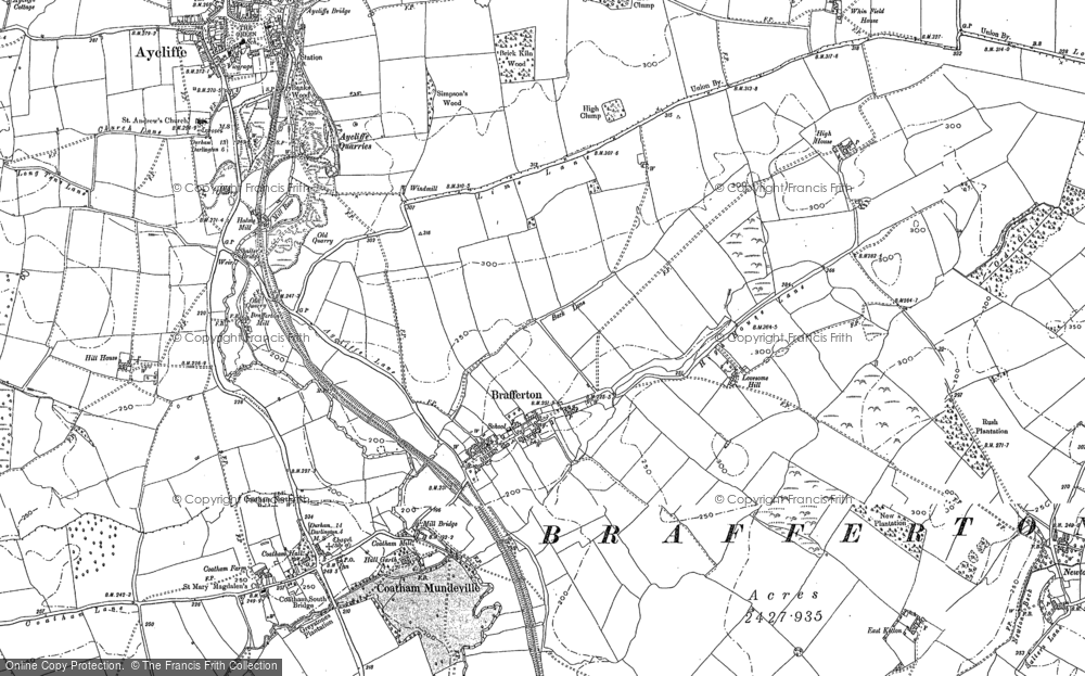 Old Map of Historic Map covering Lea Hall in 1896