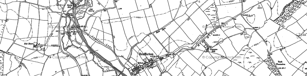 Old map of Whinfield Ho in 1896