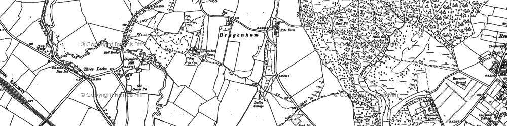 Old map of Bragenham in 1900
