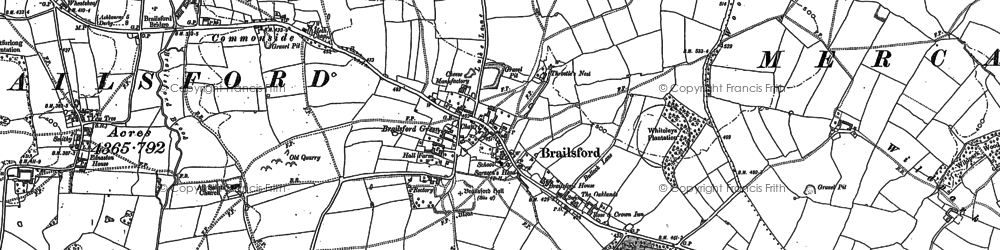 Old map of Brailsford Green in 1880