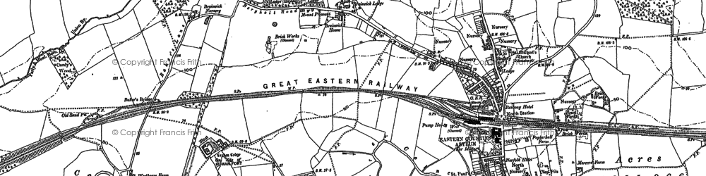 Old map of Lexden Lodge in 1896