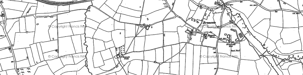 Old map of Bramcote in 1886