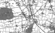 Old Map of Bramford, 1881