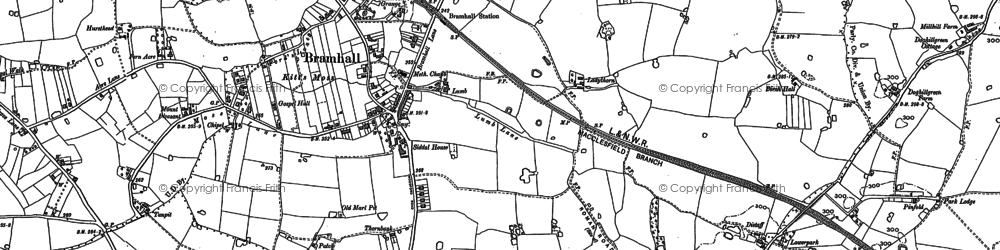 Old map of Bramhall in 1897