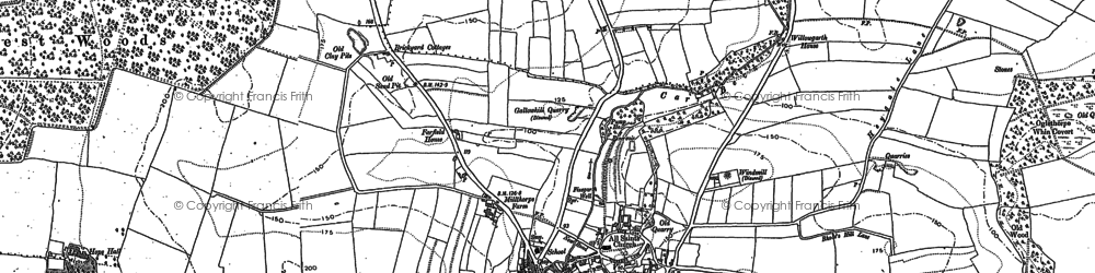 Old map of Bramham in 1891