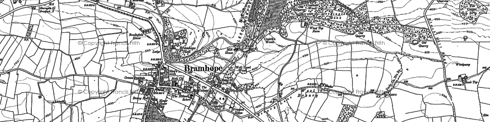 Old map of Bramhope in 1891