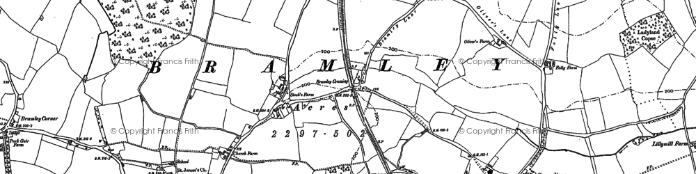 Old map of Bramley in 1894