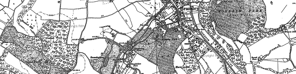 Old map of Bramley in 1895
