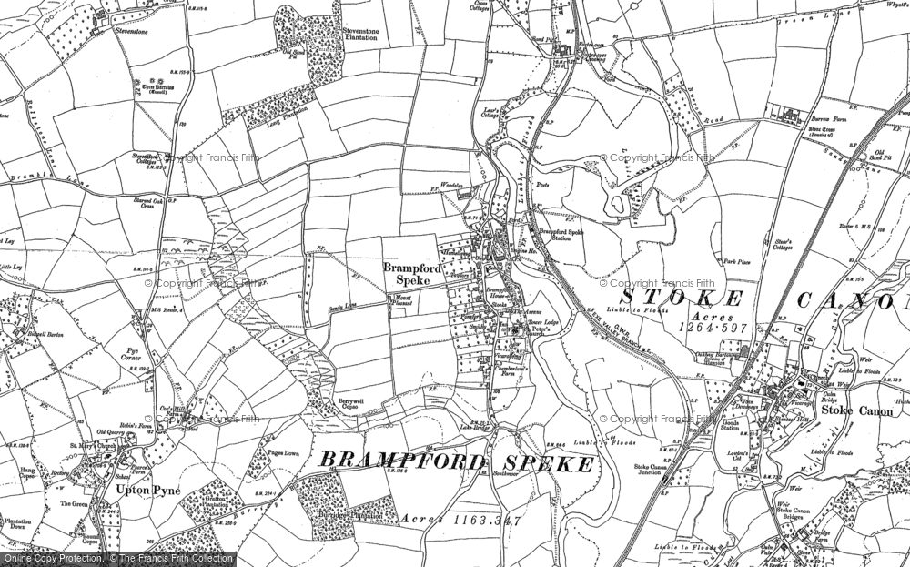 Old Map of Historic Map covering Woodrow in 1886