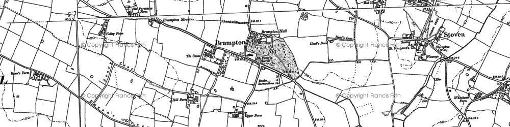 Old map of Titsal Wood in 1883