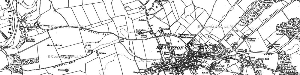 Old map of Brampton in 1897