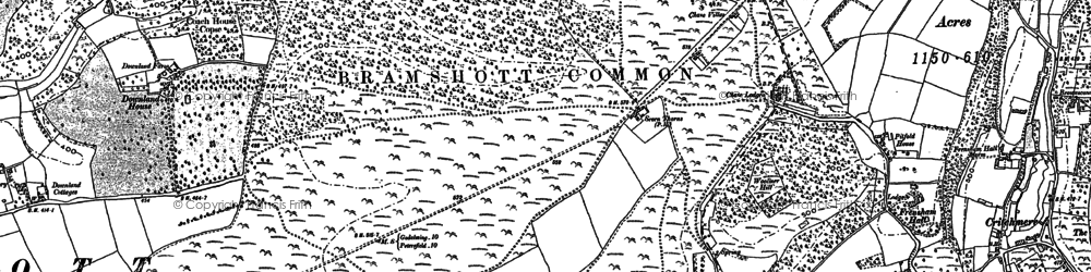 Old map of Woolmer Hill in 1909