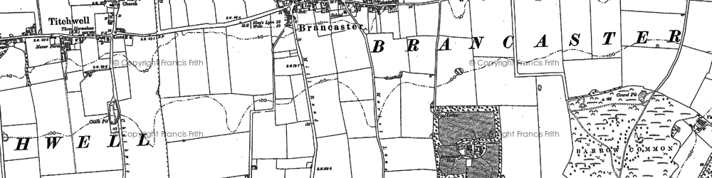 Old map of Brancaster in 1904
