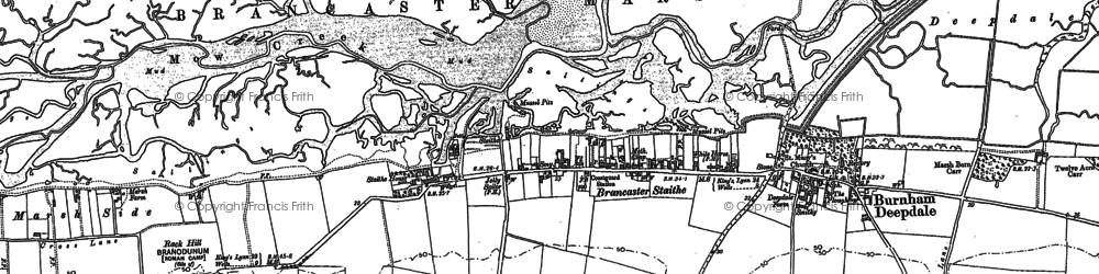 Old map of Brancaster Staithe in 1904