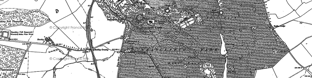 Old map of Brancepeth in 1895