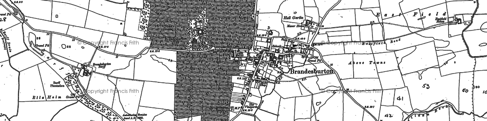 Old map of Barff Ho in 1890