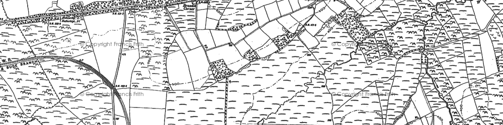 Old map of Whiteleigh Meadow in 1883