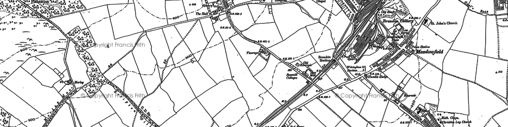 Old map of Brandon in 1895